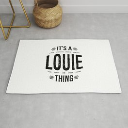 Louie Thing Name Funny Art Rug
