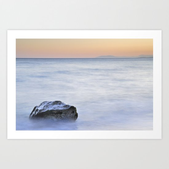 The fight of the great stone and the sea Art Print