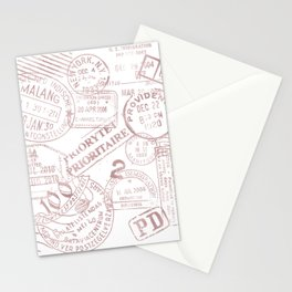 Passport Pink Stationery Cards