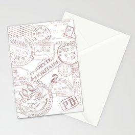 Passport Pink Stationery Cards