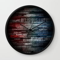 religious Wall Clocks featuring Religious Liberty by politics