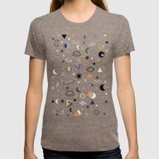 Universe SMALL Womens Fitted Tee Tri-Coffee
