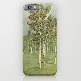 Vintage Print - Familiar Trees and Leaves (1911) - White or Paper Birch iPhone Case