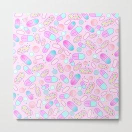 Pastel Pills Metal Print