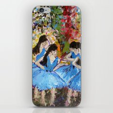 Blue Dancers iPhone & iPod Skin