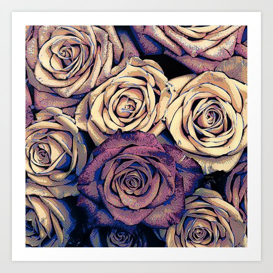 Bouquet of Roses Art Print