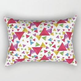 Fractal Triangles Pattern Rectangular Pillow