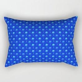 Tropical Blue Palm Trees Rectangular Pillow