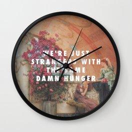Lawrence Alma-Tadema, Unconscious Rivals (1893) / Halsey, Strangers ft. Lauren Jauregui (2017) Wall Clock