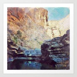 Digital Watercolor Wadi Art Print