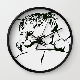 Leopard In(tro)spection Wall Clock