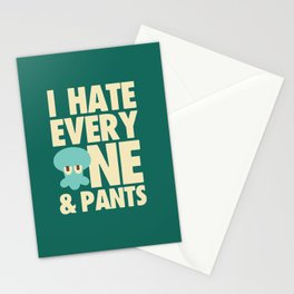 Squidward Quotes Stationery Cards