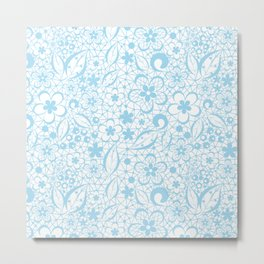 Blue , fishnet , lace Metal Print