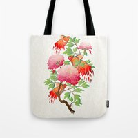 goldfish Tote Bags featuring goldfish by Manoou