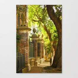 Legare Street Walk Canvas Print