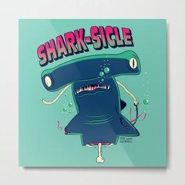 Shark-sicle Metal Print
