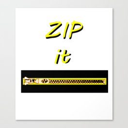 Zip it Black Yellow jGibney The MUSEUM Gifts Canvas Print