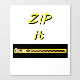 Zip it Black Yellow jGibney The MUSEUM Gifts Canvas Print