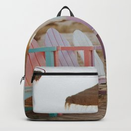 Pastel Coloured Beach Chairs Backpack