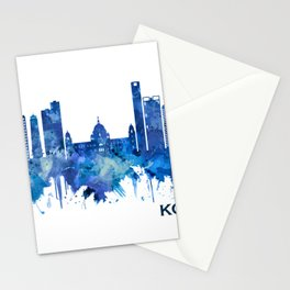 Kolkata West Bengal Skyline Blue Stationery Cards