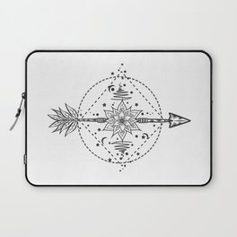Modern tattoo flash flower with arrow. Art festival poster with star and moon Laptop Sleeve