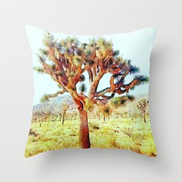 Joshua Tree VG Hills by CREYES Throw Pillow