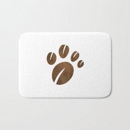 Coffee Bean Bear Paw Bath Mat