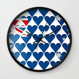 Australia Hearts Flag Wall Clock