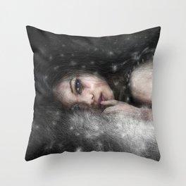 She Waits Throw Pillow