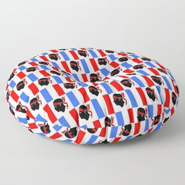 Mix of flag : France and Corsica 2 Floor Pillow
