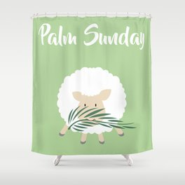 Palm Sunday Lamb Of God Shower Curtain