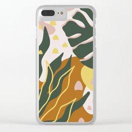 Floral Magic Clear iPhone Case