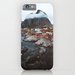 Hamnoy Village iPhone Case