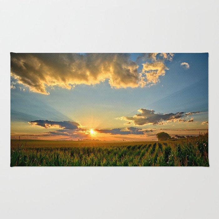 Iowa Corn Fields Rug