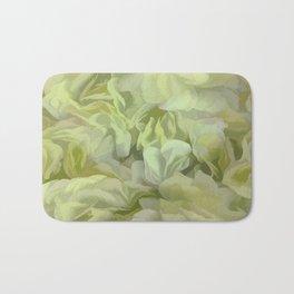 Soft Green Petal Ruffles Abstract Bath Mat