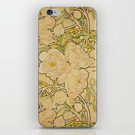 Alphonse Mucha - Peonies iPhone Skin