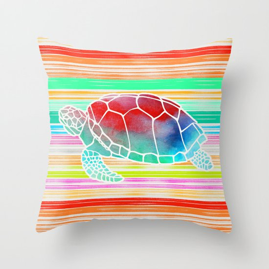 Turtle Collage by Garima and Jacqueline Throw Pillow