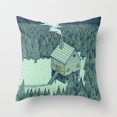'The Middle Of Nowhere' Colour Throw Pillow