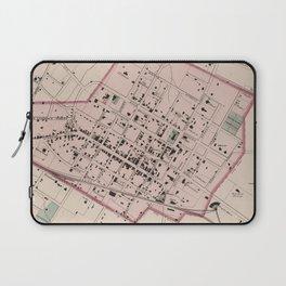 Vintage Map of Charlottesville VA (1877) Laptop Sleeve