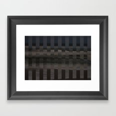 Ocean Collage, Stripes Framed Art Print
