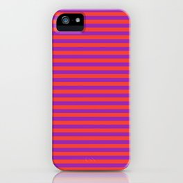 Even Horizontal Stripes, Red and Purple, S iPhone Case