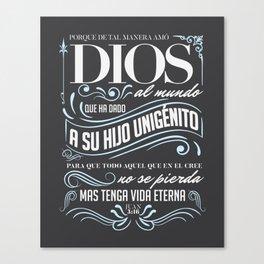 Juan 3:16 Canvas Print