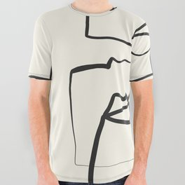 Abstract line art 12 All Over Graphic Tee