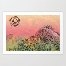 Mountain Series - Day-break Art Print