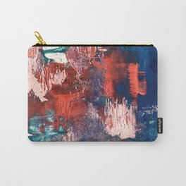 Bali: a vibrant, colorful abstract in blue, green, and pink/red Carry-All Pouch