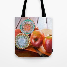 Them Apples Surreal Oil Still Life Tote Bag