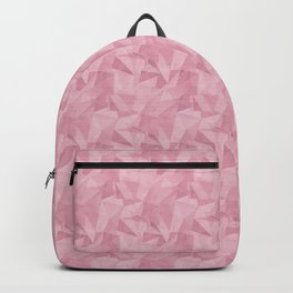 Pantone Sea Pink 15-1912 Abstract Geometrical Triangle Patterns 2 Backpack