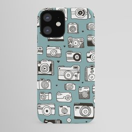 Smile action toy camera vintage photography pattern iPhone Case