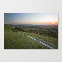 Dunstable Downs Sunset Canvas Print
