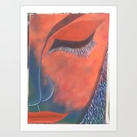 musa Art Prints featuring La Musa by Alme